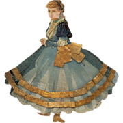 Victorian Figural  Diecut Dolls with Flared Skirt