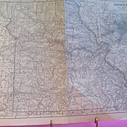 Map of the State of Missouri with inserts for St. Louis and Kansas City