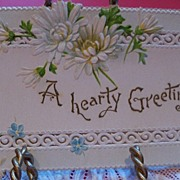 "Tiny Book ""A Hearty Greeting"" Christmas Gift"