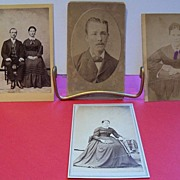 Four Small Size Studio Photos of Adults