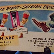 "Advertising Ink Blotter ""Griffin ABC"" Shoe Polish"