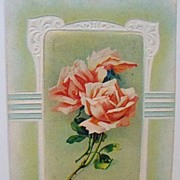 "Postcard ""Wishing You a Happy Birthday"" with Roses"