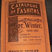 Pair of 1900 Fashion Magazines with Great Ads
