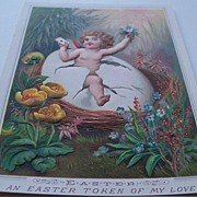 Beautiful Embossed Victorian Easter Greeting Card
