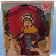 "Advertising Trade Card Girl Crying ""Pearline"""