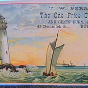 "Advertising Trade Card ""The One Price Clothier"""
