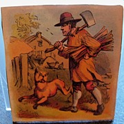 Victorian Card Featuring Fierce Dog
