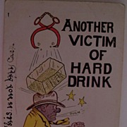 "Postcard ""Another Victim of Hard Drink"""
