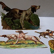 Victorian Scraps of Hunting Dogs