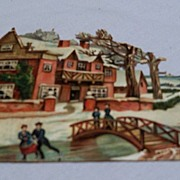 German Diecut of Winter Scene