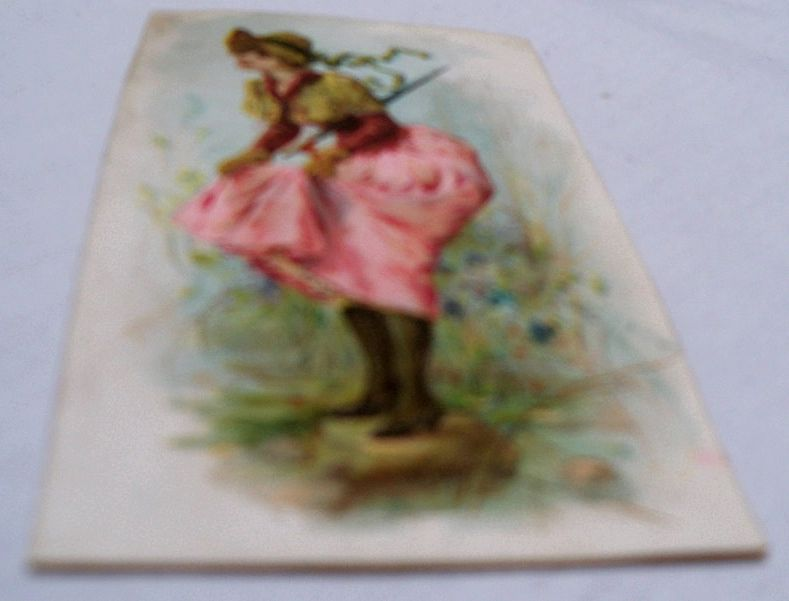 Advertising Trade Card Flirty Lady Tobacco Card