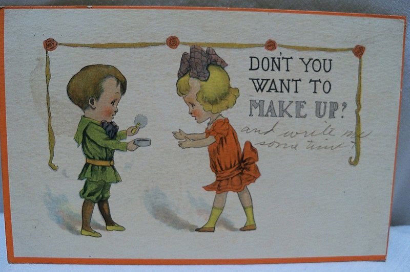 Postcard Couple After an Argument
