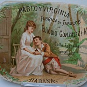 Advertising Paper  Pablo Y Virginia Fabrica de Tabacos