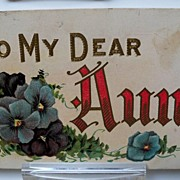"Postcard ""To My Dear Aunt"""