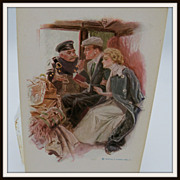 Harrison Fisher  Wedding Postcard