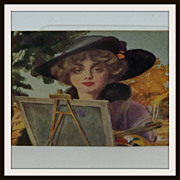 Artist Signed Postcard Beautiful Painting