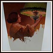 Artist Signed Lady Lighting Lamp