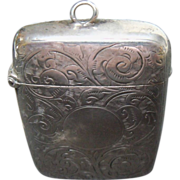 English Sterling Ornate Match Safe