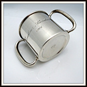 Small Sterling Two Handled Trophy Cup