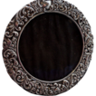 English Sterling Round Ornate  Picture Frame