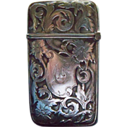 Ornate Art Nouveau Design Sterling Match Safe
