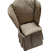 Wing back Chair Pincushion and Sewing Caddy