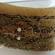 Souvenir Pincushion with pins and needles