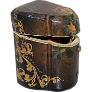 Papier Mache Knife Box Thimble Holder