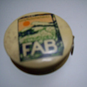 "Metal Advertising Tape Measure ""Fab"" Colgate"