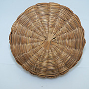 Sweet Grass Covered Sewing Basket