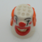 Porcelain Display Clown Figural Thimble