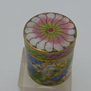 Cloisonne Modern Thimble Holder