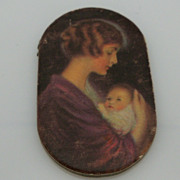SOLD Prudential Advertising Pin Holder Mother and Baby