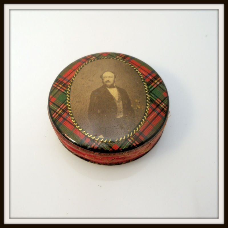 Tartanware Pin Cushion with Prince Albert Photo