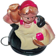 Figural Peasant Lady Tape Measure