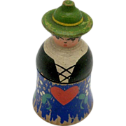 Wooden Figural Pilgrim Thimble Holder