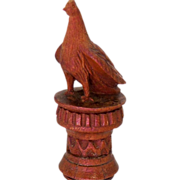 Victorian Wooden Bird Figural Needlecase