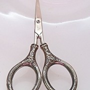 Sterling  Ornate Small Embroidery Scissors