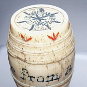 Wonderful &quot;Friend &quot;  Painted Bone Thimble Holder