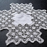 Dainty White Lacy Coasters From Charlotte NC