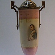 Pair of Lamps with Portraits of  Napoleon and Josephine
