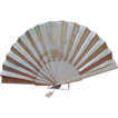 Large Victorian Cream  Satin and Ivory Fan