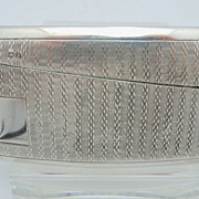 English Sterling Gentleman's Calling Card Case