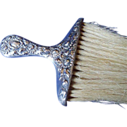 Silverplate  Ornate  Handled Bonnet Brush