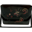 Chinese Lacquer Swivel Calling Card Case