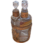 Dore Bronze Perfume Holder  with Three Perfumes