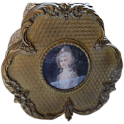 Dore Bronze Jewelry Box with Handpainted Portrait