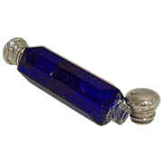 Lay Down Cobalt Perfume and Smelling Salt Bottle