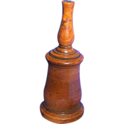 Turned Wood Glove Powder Shaker