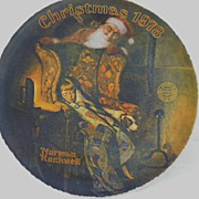 "Norman Rockwell Collector's Plate, ""Christmas Dreams, 1978"""